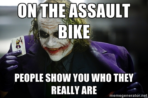 Image result for Crossfit Assult Bike meme