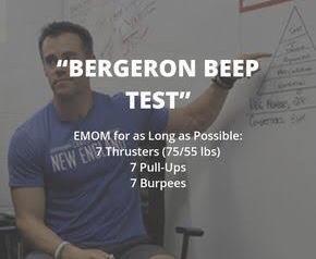 Friday 12/7/19…Bergeron BeepTest